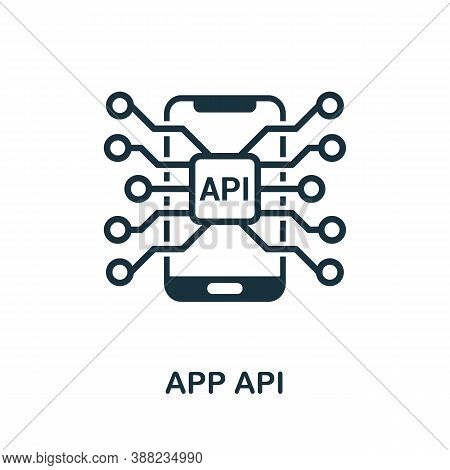 App Api Icon. Simple Element From App Development Collection. Filled App Api Icon For Templates, Inf