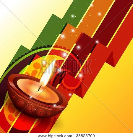 creative happy diwali vector background design poster