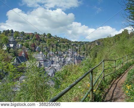 Footpath Around Village Of Monschau In The Eifel,germany