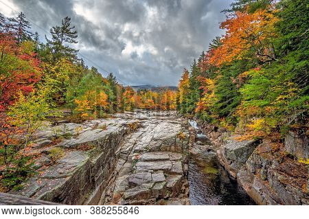 Autumn At The Swift River In New Hampshire