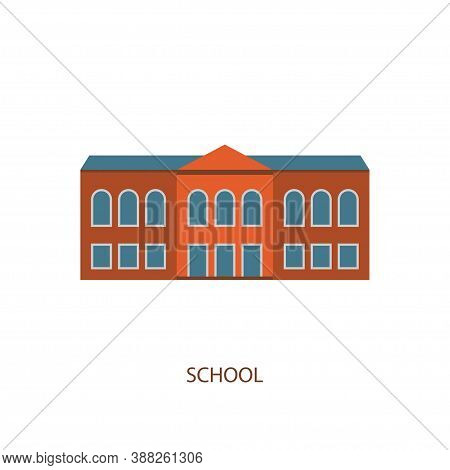 School Building Vector Isolated Illustration. University Design. City Icon. Structure Sign. Urban Ac