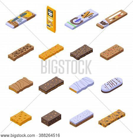 Snack Bar Icons Set. Isometric Set Of Snack Bar Vector Icons For Web Design Isolated On White Backgr