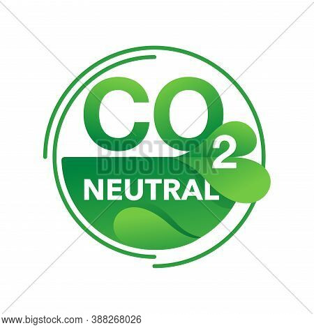 Co2 Neutral Eco Production Stamp (net Zero Carbon Footprint) - No Air Atmosphere Pollution - Industr