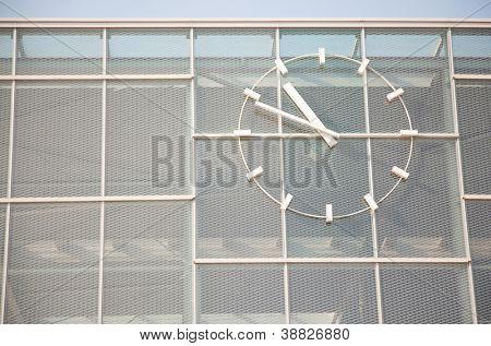 U1/U2-Wien Nord-Praterstern with clock in Vienna, Austria