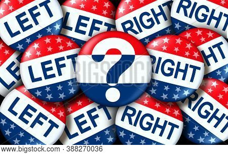 Election Choice Concept And Undecided Voting Option Badge Or Unaffiliated And Independent Voter As A