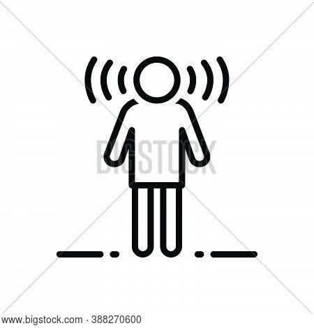 Black Line Icon For Aware Conscious Well-informed Innovation Mindset Concept Informed Apprised Cogni