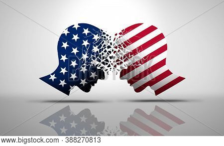 United States Debate And Us Social Issues Argument Or Political War As An American Culture Conflict