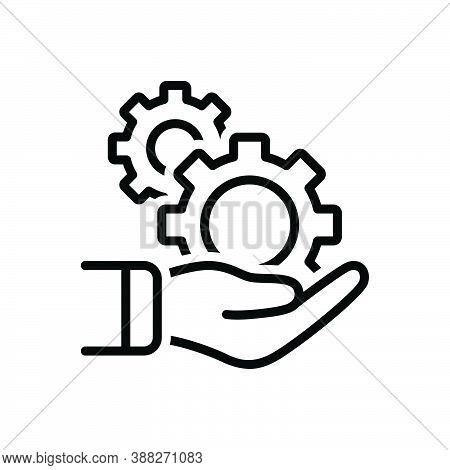 Black Line Icon For Formation Setting-up Development Evolution Arrangement Gear Mechanism Cogwheel