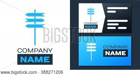 Logotype Road Traffic Sign. Signpost Icon Isolated On White Background. Pointer Symbol. Isolated Str
