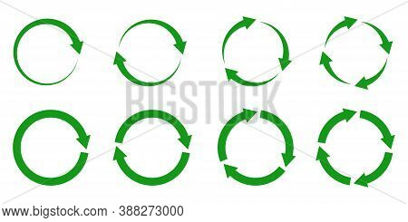 Recycle Arrow Icon Vector Illustration On White Background. Reuse Symbol. Eco Lifecycle. Green Cycle