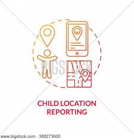 Child Location Reporting Concept Icon. Parental Control Element Idea Thin Line Illustration. Adolesc