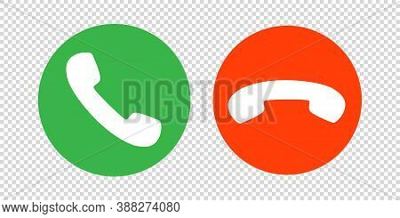 Phone Call Icon Vector. Mobile Cell Answer Symbol. Dial Internet Button Graphic Illustration. Isolat