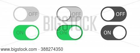 Toggle Vector Switch Slider Button. On Off. Mobile Phone Ui Interface Turn Power. Control Web Bar. A