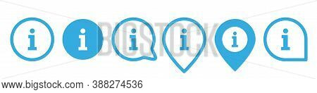 Info Icon, Internet Simple Symol. Information Desk Set. Inform Tourist Helpdesk Logo Set Isolated On