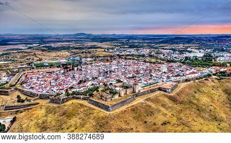Aerial View Of The City Of Elvas. Unesco World Heritage In Alentejo, Portugal