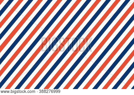 Air Mail Letter Vector. Post Stamp. Airmail Frame Postcard. Blue Red Stripes Pattern. Mockup Templat