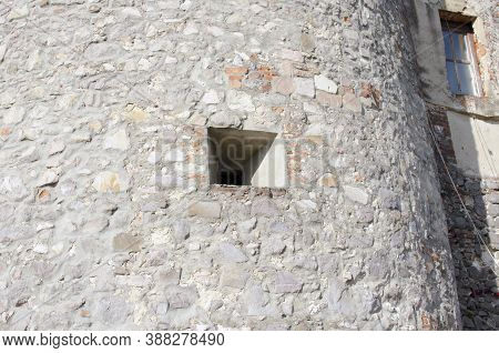 Embrasure, Loophole In The Wall Of An Old Mountain Fortress.