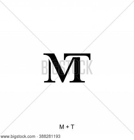 M And T Letter Concept. Very Suitable In Various Business Purposes, Also For Icon, Symbol, Logo And