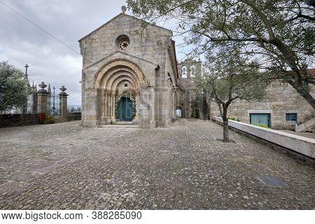 Felgueiras, Portugal - October 04, 2020 : Romanesque Route, Exterior Of The Church Of São Vicente De