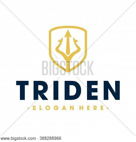 Trident Logo. Trident Logo Design Inspiration Vector