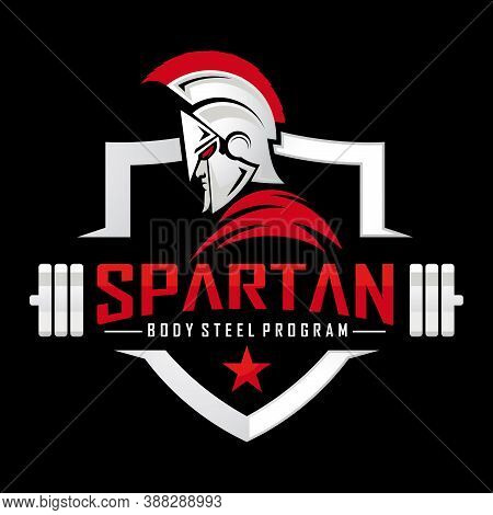 Spartan Warrior Logo, Spartan Fitness And Bodybuilding Logo Design Inspiration Vector