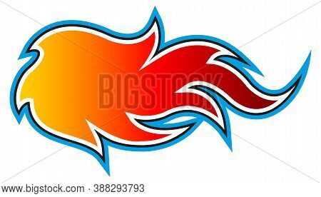 Fire Flame Vector Art Illustration Isolated On White Background. Ideal For Logo Design, Stickers, De