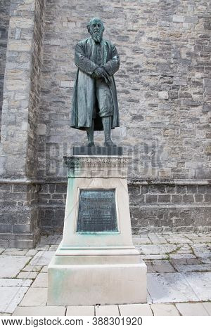 A Statue Of Polymath William Barnes Found In Dorchester, Dorset In The Uk, Taken On The 20th July 20