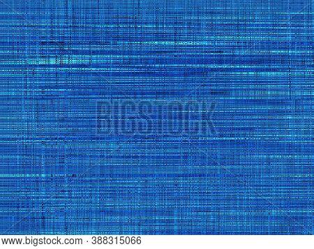 Blue Horizontal Stripes. Texture Of Blue Background. Blueish Texture. Blue Strokes Texture. Striped