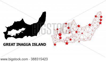 2d Polygonal And Solid Map Of Great Inagua Island. Vector Model Is Created From Map Of Great Inagua