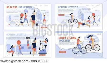 Happy Family. Healthy Lifestyle. Daily Sport Activity Enjoyment. Parent Children Training At Home, I