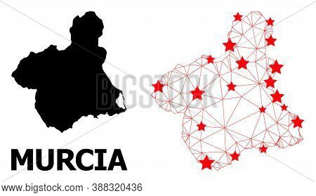 2d Polygonal And Solid Map Of Murcia Province. Vector Model Is Created From Map Of Murcia Province W