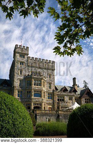 Royal Roads University Hatley Castle. Hatley Castle Near Victoria British Columbia Which Houses Roya