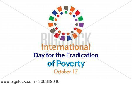 International Day For The Eradication Of Poverty October 17 Banner Template Vector Illustration.