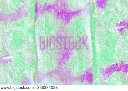 Ink Paint. Blue And Green Colors. Abstract Drawn Watercolou Stains. Tie Dye Mud Background. Paint So