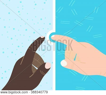 Communication Barriers Between People Of Different Cultures And Skin Colors. Discrimination Based On