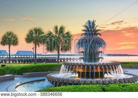 Charleston, South Carolina, USA at Waterfront Park at dawn.