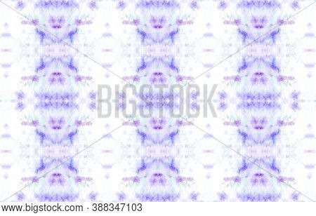 Seamless Watercolor Geometry. Ethnic Background. Artistic Paint Wallpaper. Purple, Blue And Pink. Is
