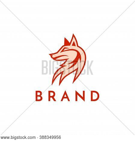 A Fox With Orange Color Concept. Very Suitable In Various Business Purposes, Also For Icon, Symbol A