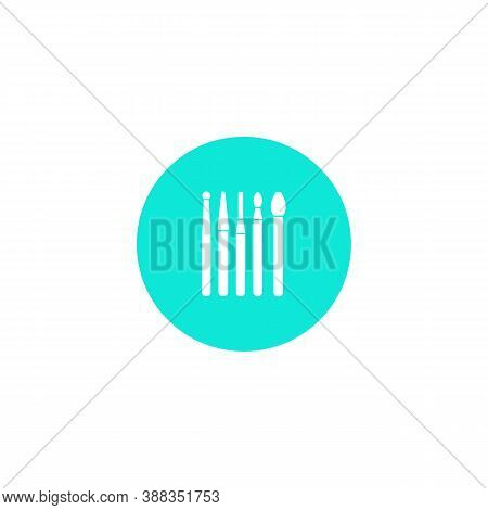 Dental Instrument Icon. Dental Burs. Tips For Dental Drill. Dentistry. A Simple Vector Icon In A Fla