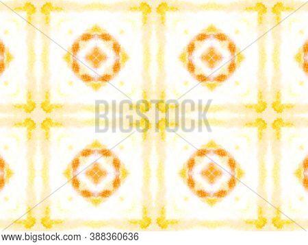Watercolor Tie Dye Seamless Pattern. Aquarelle Tie Dye Floor. Artistic Handdrawn Material. Pink, Blu