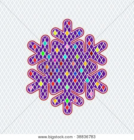 Eyecatching colorful snowflake diamond shapes