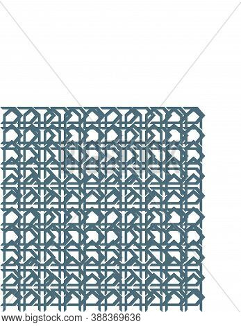 Batik Ornamental Butterfly Line Art Geometrical Pattern For Background And Wallpaper