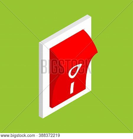 Switch Isolated Isometric. Toggle Vector Illustration. Control Button