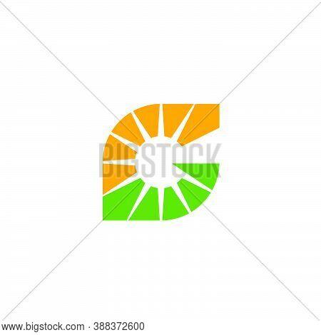 Sunshine Logo In A Leaf Shape, Forming The Letter G