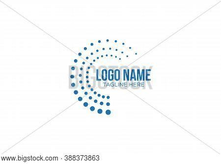 Spiral Design Logo. Round Logo Design. Creative Logo. Colourful Logo. Vector Abstract Circle Swirl L