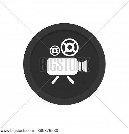 Videocamera Icon. Social Media Symbol Or Icon For Website Design, Mobile App, Ui. Multimedia Communi