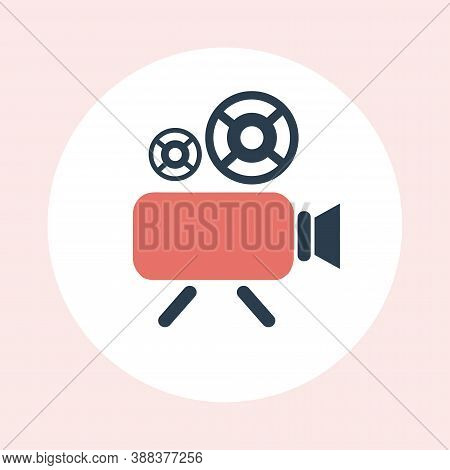 Videocamera Icon. Record Symbol Vector Icon For Website Design, Mobile App, Ui. Social Media Multime