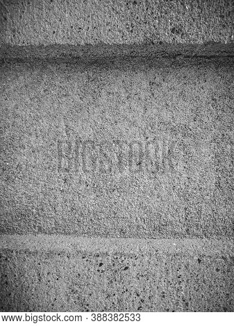 Wall Surface Close Up. Abstract Stucco Rough Texture. White Background.black Stone Concrete Texture