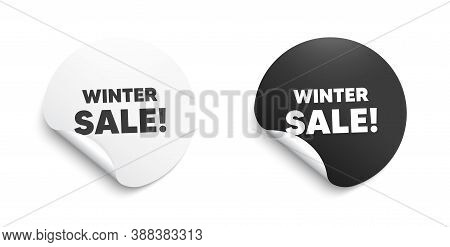 Winter Sale. Round Sticker With Offer Message. Special Offer Price Sign. Advertising Discounts Symbo