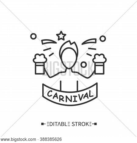 Beer Drinking Line Icon. Brazilian Beer. Brazilian Carnival Drink, Beverage. Alcohol. National Drink